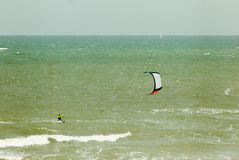 Kite-surfing Stock Photography
