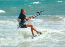 Kite surfing Royalty Free Stock Photo