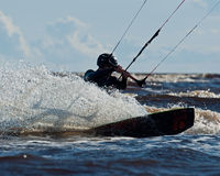 Kite surfing 2 Royalty Free Stock Images