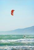 Kite Surfing in San Francisco Stock Image