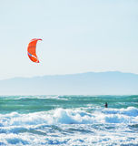 Kite Surfing in San Francisco California Stock Photo