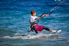 Kite surfing on the sea. Stock Images