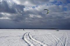 Kite surfing Stock Photo