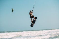 Kite surfing. Stock Photos
