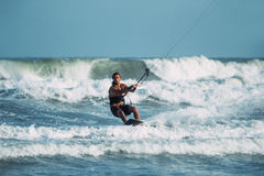 Kite surfing. Stock Photos