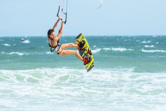 Kite surfing. Royalty Free Stock Photography