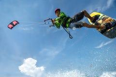 Kite surfing. Royalty Free Stock Image