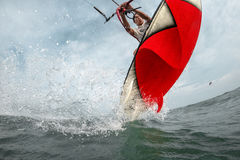 Kite surfing. Royalty Free Stock Images