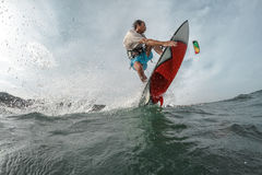 Kite surfing. Stock Image