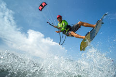 Kite surfing. royalty free stock photos