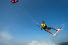Kite surfing. stock images