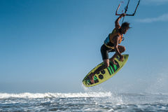 Kite surfing. Stock Image