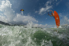 Kite surfing. Stock Photography