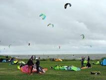 Kite surfing Stock Image