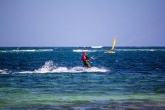 Kite Surfing in Watamu Stock Photography