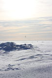 Kite surfing in the winter. On the Gulf of Finland in Russia Stock Photos