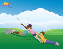 Kite Teamwork Royalty Free Stock Photos