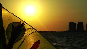 Kite Toy In Sunset stock footage
