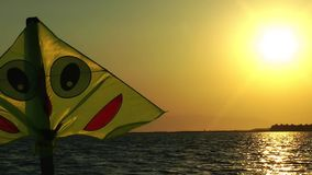 Kite Toy In Sunset stock video