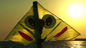 Kite Toy In Sunset. Video stock video footage