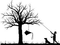 Kite_in_tree_02 Stock Afbeelding