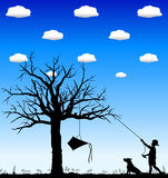 Kite_in_tree_02 Stock Photos