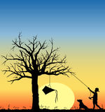 Kite_in_tree_03 Royalty Free Stock Photography