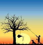 Kite_in_tree_03 ilustração royalty free