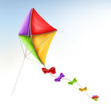 Kite, vector icon. Kite, 3d vector icon on white background Royalty Free Stock Photography