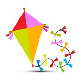 Kite Vector Isolated on White Royalty Free Stock Photos