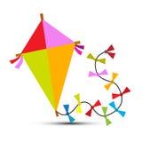 Kite Vector Isolated on White Royalty Free Stock Photos