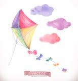 Kite. Watercolor vector Stock Photo
