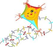 Kite Wind royalty free illustration