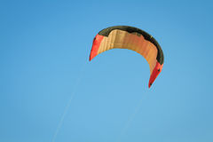 Kite wing over blue sky Royalty Free Stock Photos