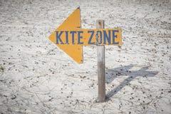 Kite zone arrow sign Stock Photos