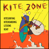 Kite zone sign stock photography