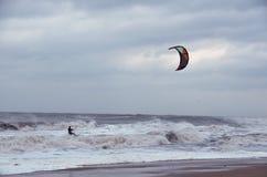 Free Kiteboad Surfer In Sea Stock Image - 28009811