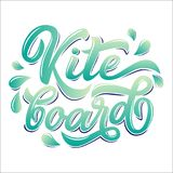 Kiteboard lettering logo. In graffiti style isolated on white background. Vector illustration for design t-shirts, banners, labels, clothes, apparel, water Stock Photo