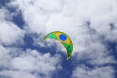 Kiteboard sail on Fuerteventura Island. Canary Islands, Spain Stock Photography