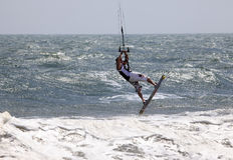 Kiteboarder Stockfotografie