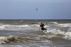 Kiteboarder photo stock