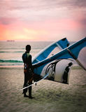 Kiteboarder, Cape Town, Südafrika 2005 Lizenzfreie Stockbilder