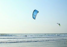 Kiteboarder enjoy surfing in the ocean Royalty Free Stock Photo
