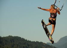 Kiteboarder Kiss Royalty Free Stock Images
