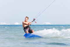 Kiteboarder motion blur Stock Photos