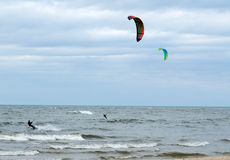 Kiteboarder  pair Stock Photos