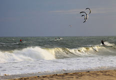 Kiteboarders Royalty Free Stock Photos