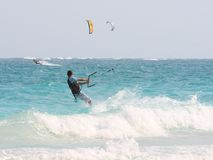 Kiteboarders Stock Images