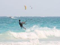 Kiteboarders Immagini Stock