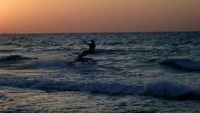 Kiteboarding极端航行 股票视频